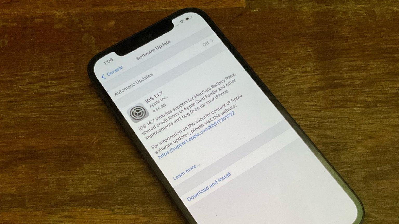 iOS 14.7 will bring Apple Card tweaks, Apple battery pack support