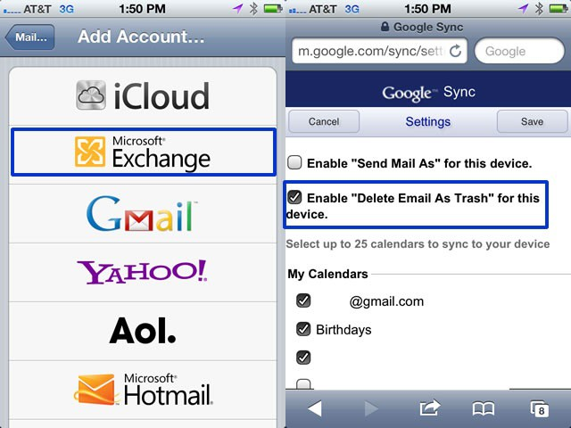 Borrar Emails Iphone