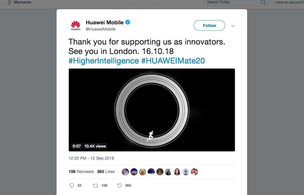 Huawei tweets