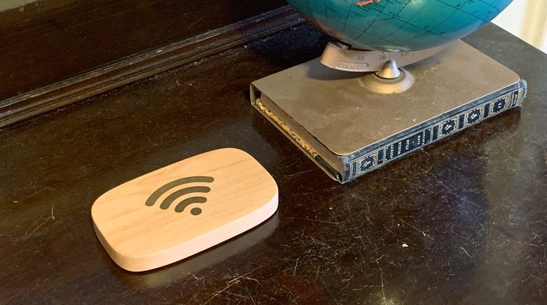Wifi Porter is easy to see without being intrusive.