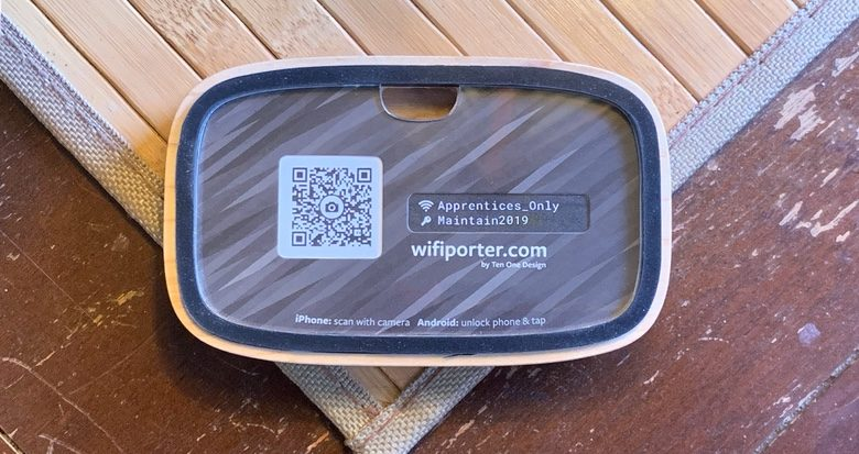 If NFC doesn't work, Wifi Porter helps you create and display a QR code.